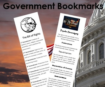 Free Bill of Rights Bookmark