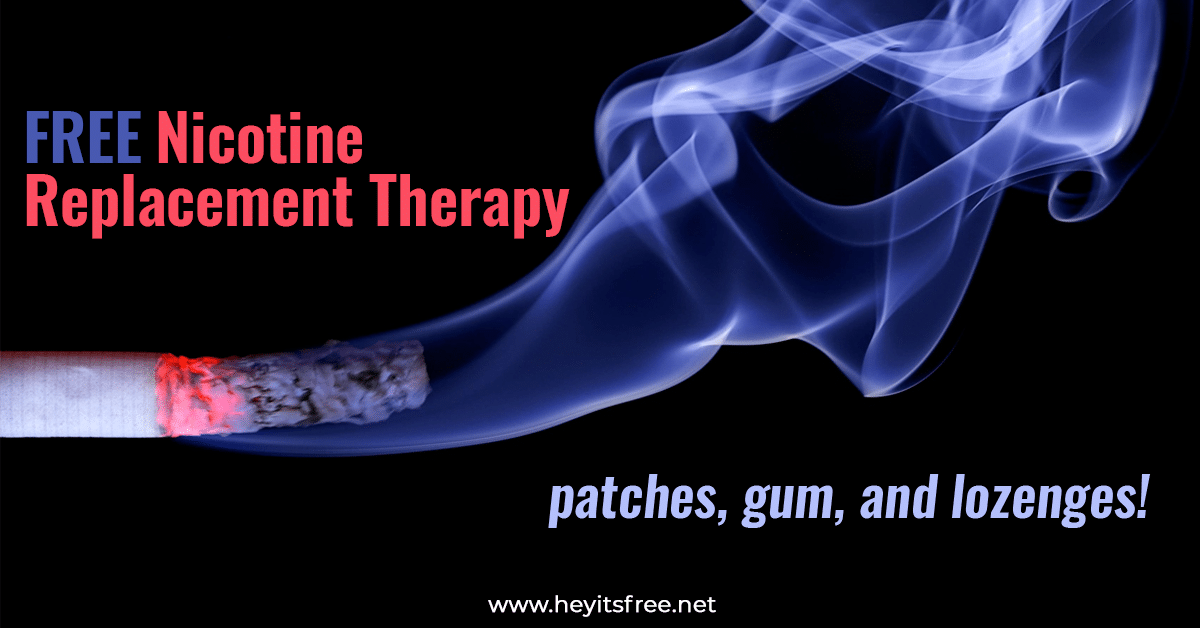 Free Nicotine Replacement Therapy Patches Lozenges Gum