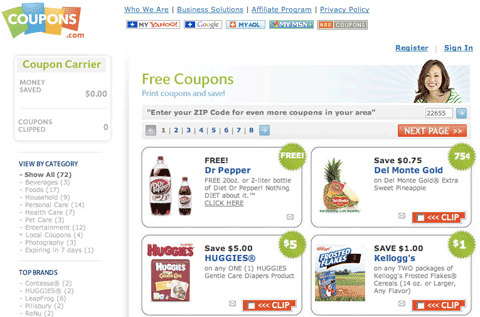 Free printable coupons from Coupons.com