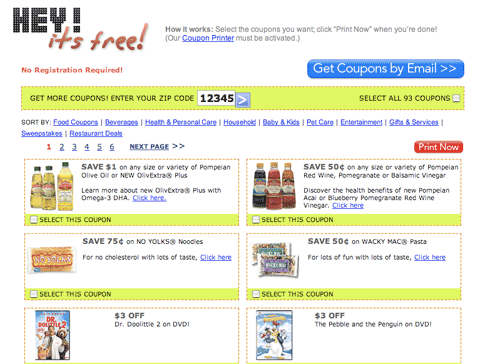 Free printable coupons from SmartSource