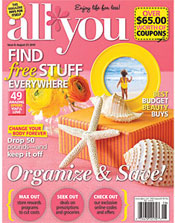 As seen All You magazine, August 2010