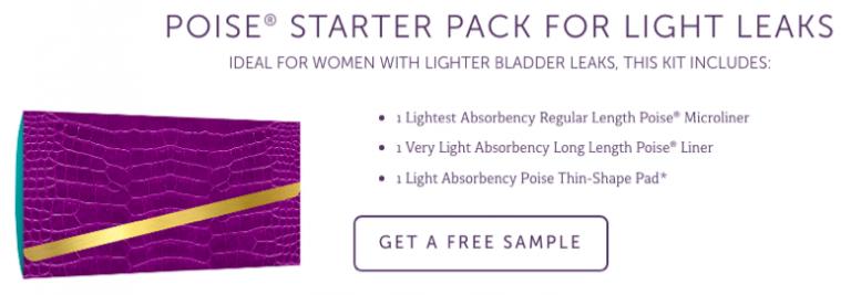 Free Poise Sample Kit Light Leaks
