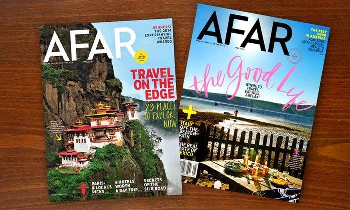 Free AFAR Magazine Subscription