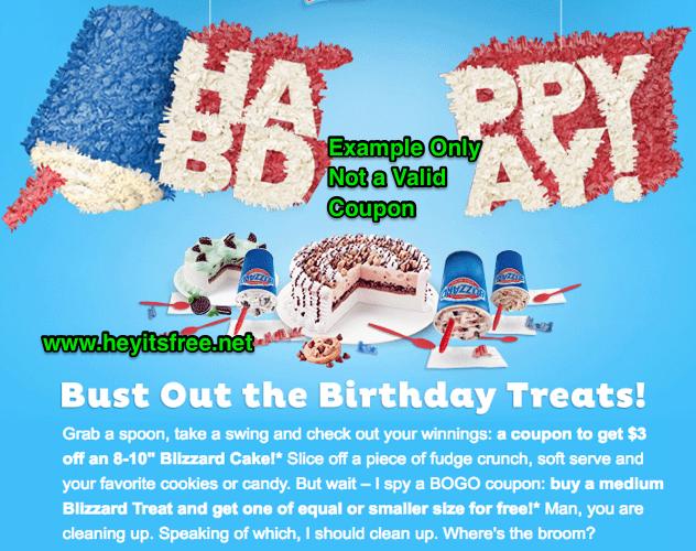 DQ Birthday Freebie