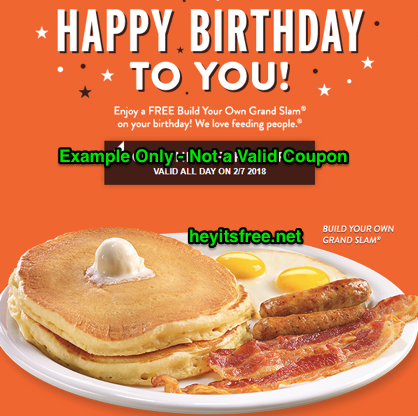 Denny's Free Birthday Food