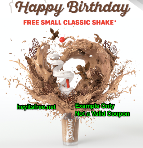 graphic regarding Sonic Printable Coupon identified as Sonic Birthday Freebie