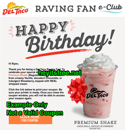 Del Taco Birthday Freebie