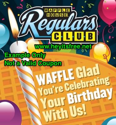 Waffle House Birthday Freebie