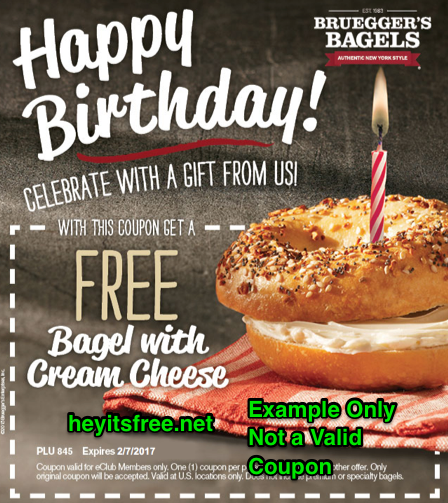 Bruegger's Birthday Freebie