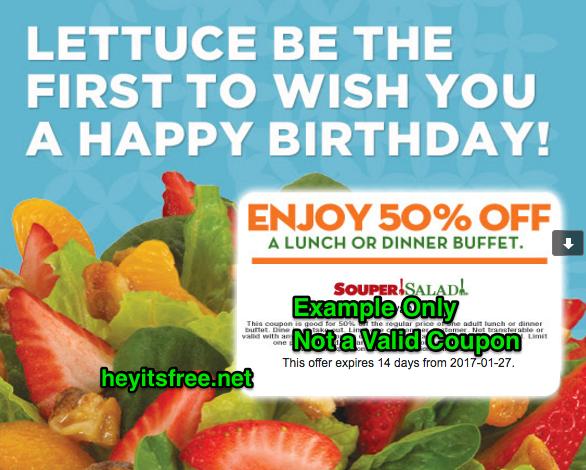 Souper Salad Birthday Freebie