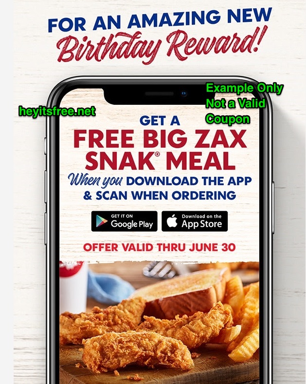 Zaxby's Birthday Freebie
