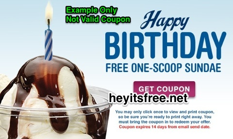 image relating to Culver Coupons Free Printable known as Culvers Birthday Freebie