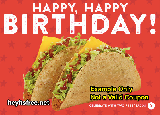 Jack in the Box Birthday Freebie Tacos