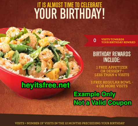 photograph regarding Genghis Grill Printable Coupon known as Genghis Grill Birthday Freebie