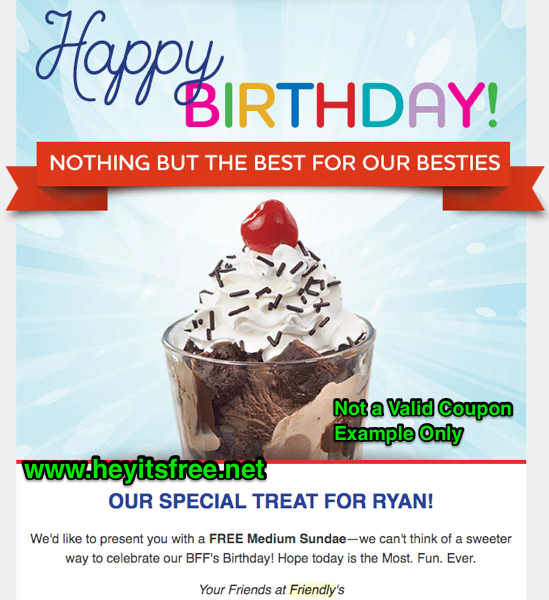 graphic relating to Friendly's Ice Cream Coupons Printable Grocery named Friendlys Birthday Freebie