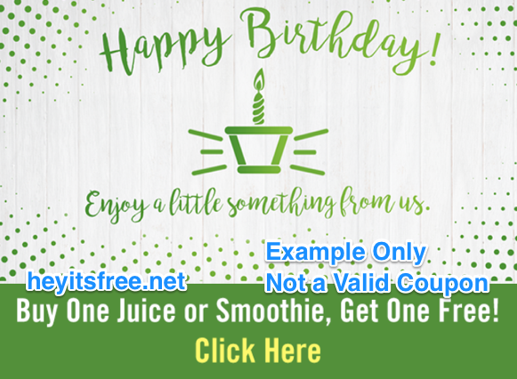Juice It Up Birthday Freebie