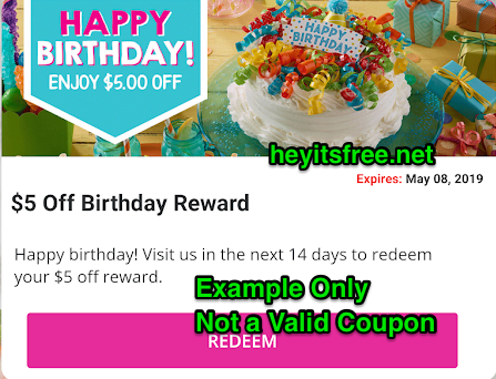 Maggie Moos Birthday Freebie