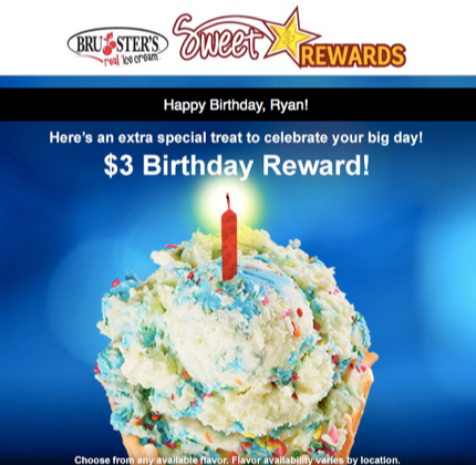 Bruster's Birthday Freebie
