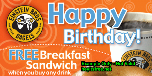 Einstein Bros Bagels Birthday Freebie