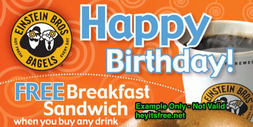 Einstein Bros Birthday Freebie