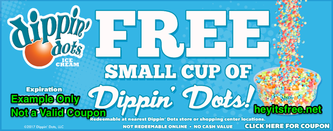 Dippin' Dots Birthday Freebie