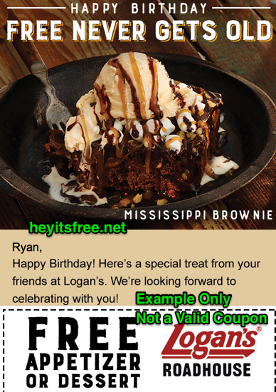 graphic about Texas Roadhouse Free Appetizer Printable Coupon identify Logans Roadhouse Birthday Freebie