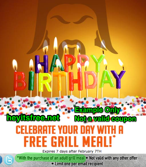 image regarding Genghis Grill Printable Coupon titled HuHot Mongolian Grill Birthday Freebie