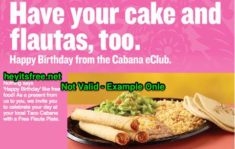 Taco Cabana Birthday Freebie