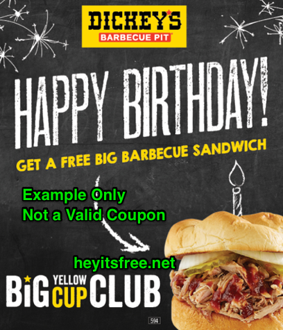 Dickey's Barbecue Pit Birthday Freebie