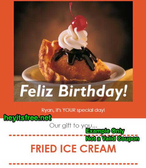 El Chico Birthday Freebies
