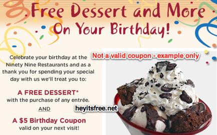 Ninety Nine Birthday Freebie