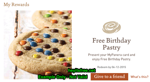 Panera Bread Birthday Freebie