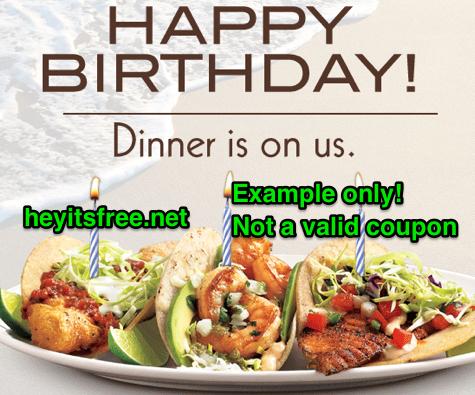 Rubios Birthday Freebie