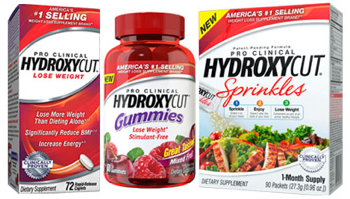 Three Free Hydroxycut Samples