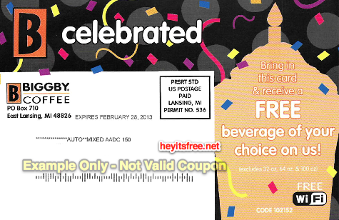 Biggby Coffee Birthday Freebie
