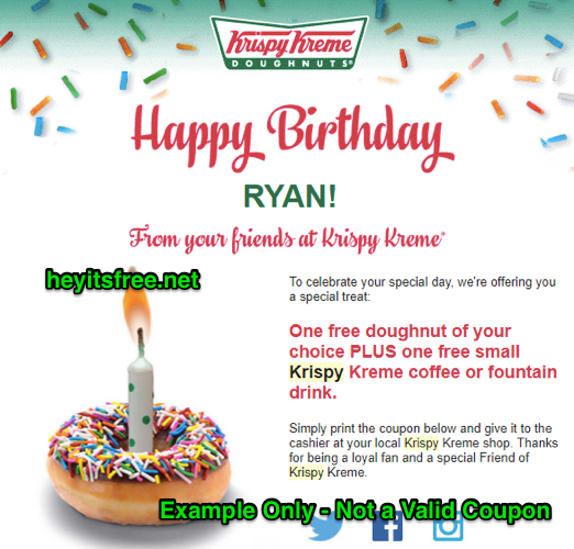 Krispy Kreme Free Birthday Food