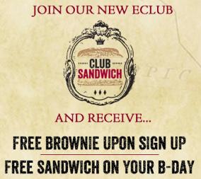 Free Earl of Sandwich Birthday Food