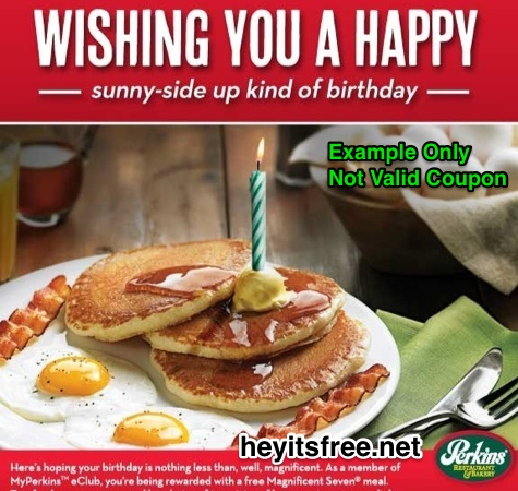 Free Perkins Breakfast