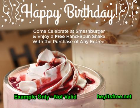 Smashburger Birthday Freebie