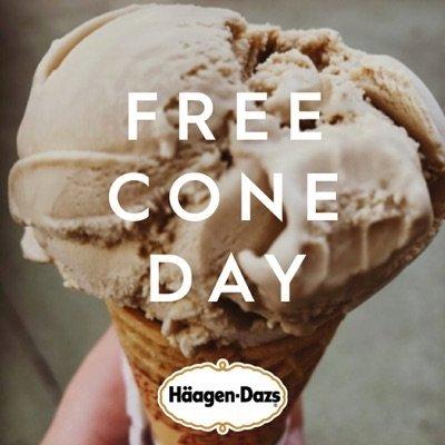 Free Haagen-Dazs Cone Day