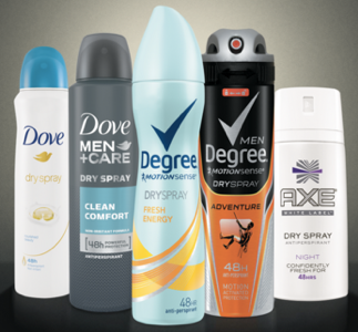 Free Unilever Spray Deoderant
