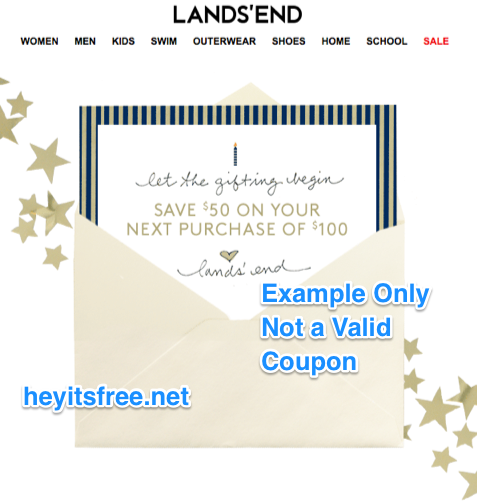 Lands' End Birthday Freebie