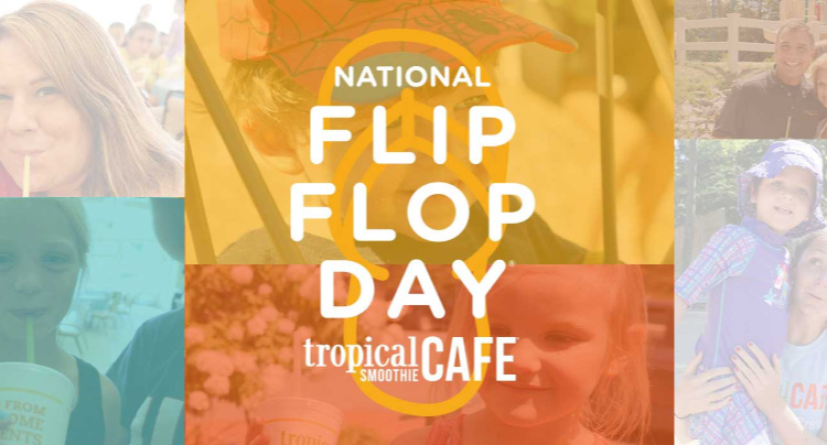 Free Tropical Smoothie Cafe Flip Flop Day