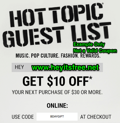 how to get free stuff from hot topic