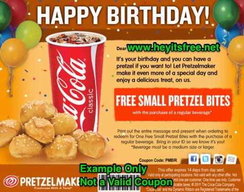 Free Pretzelmaker Birthday