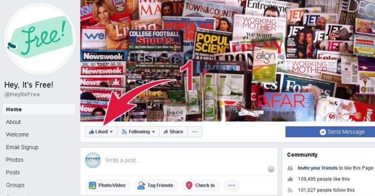 Get Facebook Page Updates Freebies Step 1