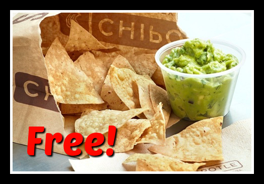 Free Chipotle Guacamole Chips