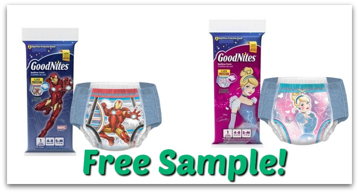 Free GoodNites Sleep Underwear