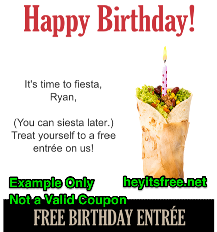 El Torito Birthday Freebie