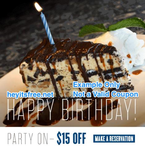 Not Your Average Joe's Birthday Freebie